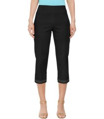 jm collection embellished-hem straight-leg capri pants, created for macy's