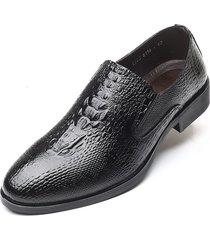 hombres zapatos vestir de cuero de cocodrilo vestido formal zapatos oxford
