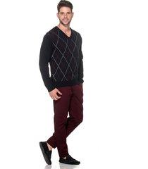 suéter passion tricot jacar marinho - kanui