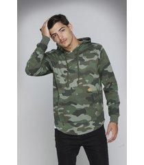buzo verde rever pass hoodie camuflado