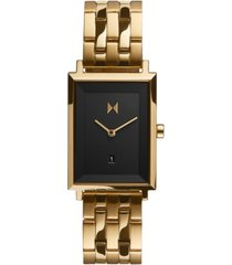 mvmt women's mason gold-tone stainless steel bracelet watch 24mm