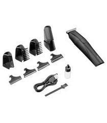 aparador e barbeador multilaser eb041 9 em 1 lâmina navalha bivolt preto