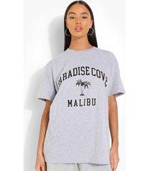 oversized paradise cove t-shirt, grey marl