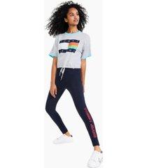 tommy jeans drawstring-hem pullover logo top