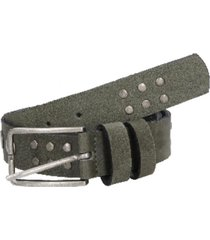 cinturón cuero con remaches gris zappa