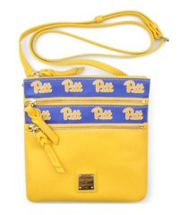 dooney & bourke pittsburgh panthers saffiano triple zip crossbody bag