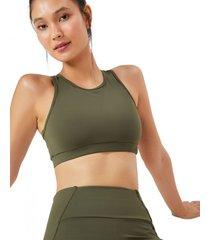amaro feminino top esportivo bolso costas, militar