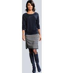 kjol alba moda grå::blå::fuchsia