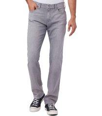 men's paige normandie straight leg jeans, size 31 - grey