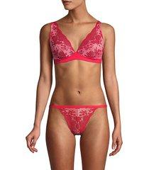 cosabella women's italia lace soft bra - blush ivory - size s