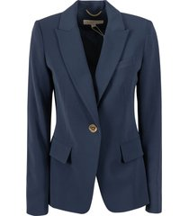 single buttoned blazer michael kors