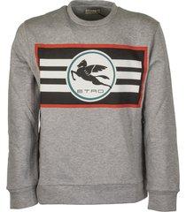 etro sweatshirt with printed pegaso logo
