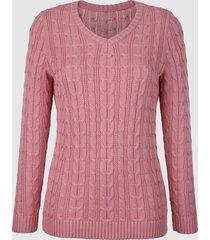 tröja med flätmönster dress in rosa