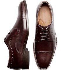 johnston & murphy sanborn burgundy cap toe derbys