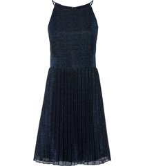 abito glitterato con gonna plissettata (blu) - bodyflirt