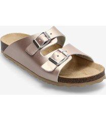biabetricia buckle sandal shoes summer shoes flat sandals guld bianco