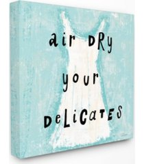 """stupell industries air dry your delicates dress canvas wall art, 17"""" x 17"""""""