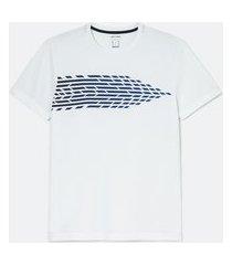 camiseta esportiva com estampa degradê | get over | branco | p