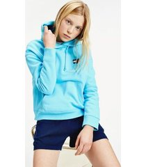 tommy hilfiger women's tommy badge hoodie fresh aqua - s