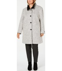 dkny plus size stand-collar walker coat, created for macy's