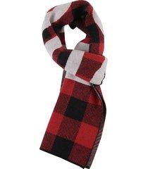 dsquared2 check logo scarf