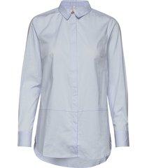 pzelna shirt långärmad skjorta blå pulz jeans