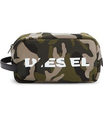 diesel men's camouflage-print pouch - military green