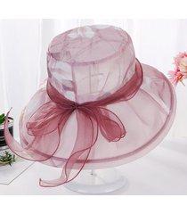 mujeres de la moda elegante 's sombreros de la iglesia mujer sombrero