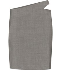 coperni cutout mini skirt - grey