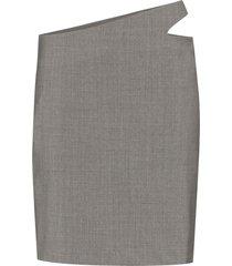 coperni cutout mini skirt - grey