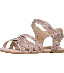 sandalia cuero rosa bibi