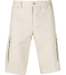 aspesi multi-pocket knee length bermuda shorts - neutrals