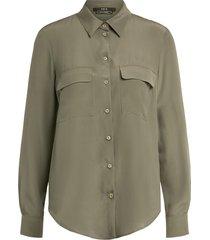 blouse van zijde mix angeli  groen
