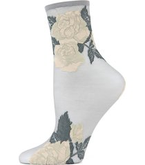 beauty rose garden sheer ankle socks