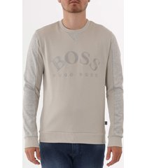 boss salbo sweatshirt - light beige 50410278