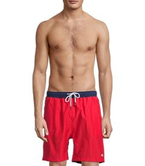 solid and striped men's the california logo swim shorts - red - size l