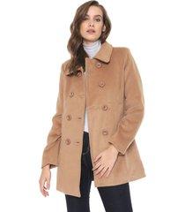 casaco sobretudo facinelli by mooncity botões bege - kanui