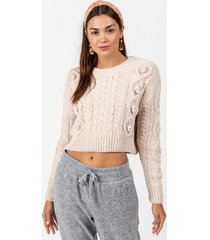 sid chunky cable sweater - ivory