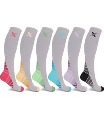 extreme fit men's and women's sports compression socks - 6 pair
