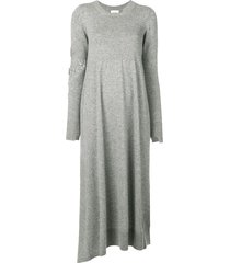 barrie bright side cashmere dress - grey
