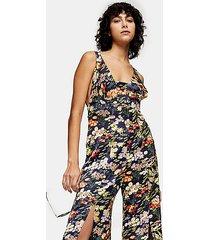 idol floral print jumpsuit - multi