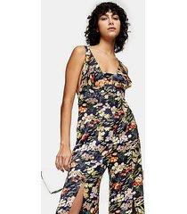 idol floral print jumpsuit - multi