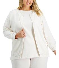 alfani plus size drawstring-hem jacket, created for macy's