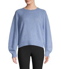 vince women's raglan-sleeve wool & cashmere-blend sweater - redwood - size l