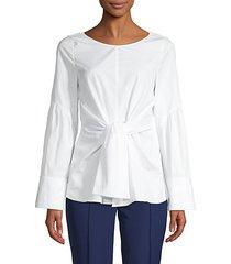 tie-front cotton top