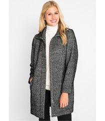 korte coat voor tussenseizoen in wollen look