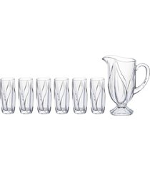 conjunto de 6 copos e jarra de 1l - incolor - dafiti