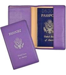 royce new york foil stamped rfid blocking passport case