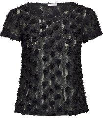 julie top blouses short-sleeved svart ida sjöstedt