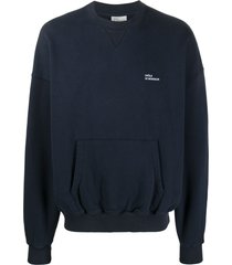 drôle de monsieur pouch-pocket cotton sweatshirt - blue